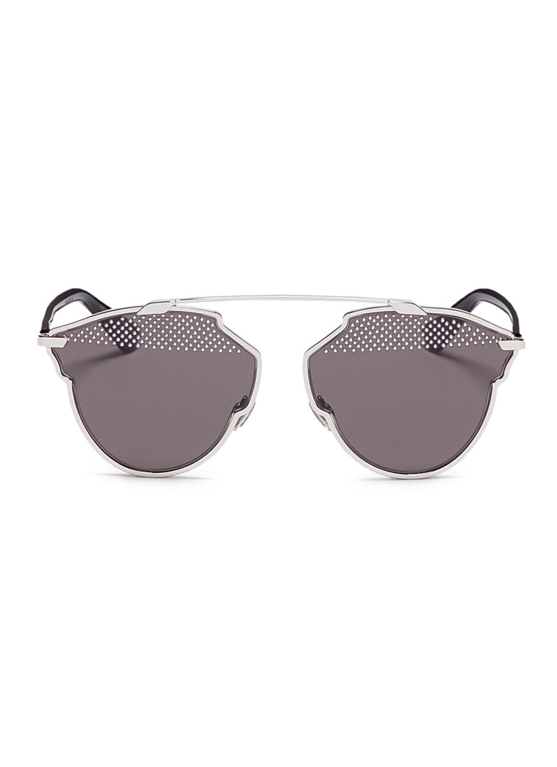 Dior So Real S stud lens panto sunglasses by Dior