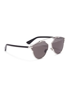 Dior 'Dior So Real S' stud lens panto sunglasses