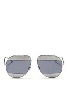 Dior 'Dior Split 1' inset metal aviator sunglasses