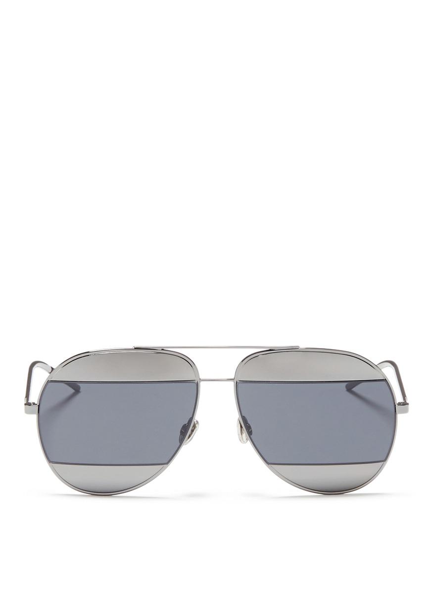 Dior Split 1 inset metal aviator sunglasses by Dior