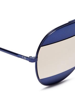 Detail View - Click To Enlarge - Dior - 'Dior Split 1' inset metal aviator mirror sunglasses