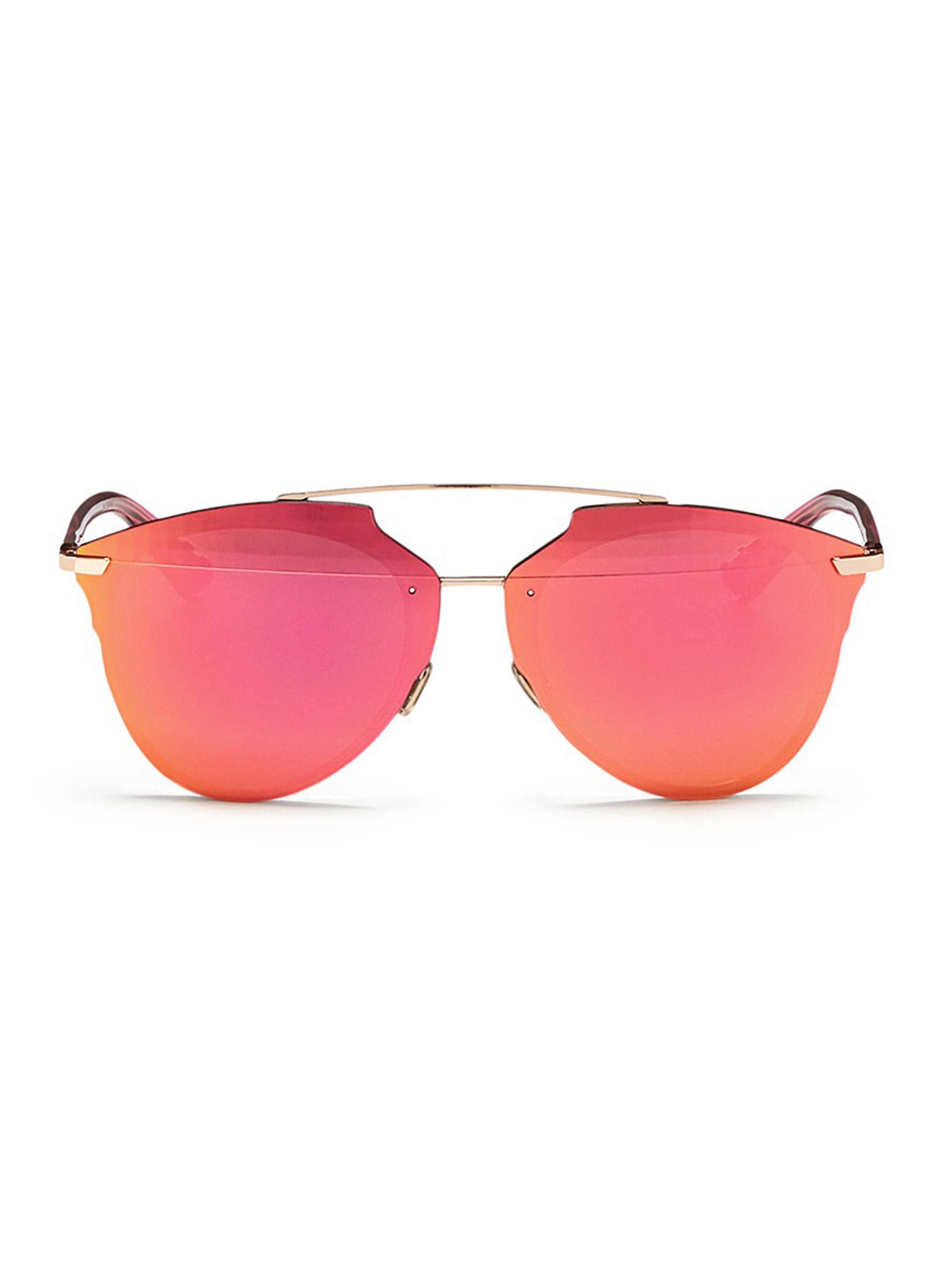 Dior Reflected prism effect mounted mirror lens sunglasses by Dior