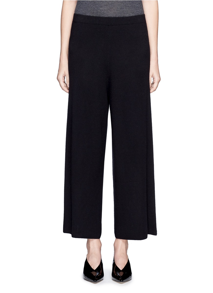 x Du Juan cashmere knit wide leg pants by CRUSH Collection