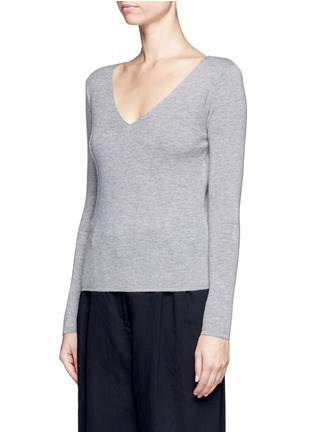 Front View - Click To Enlarge - CRUSH Collection - Double face knit cashmere sweater