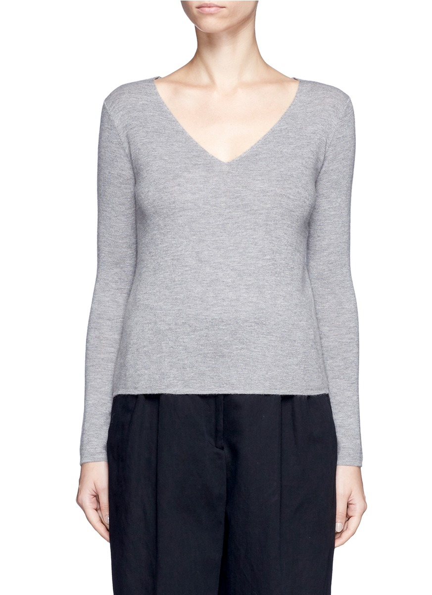 Double face knit cashmere sweater by CRUSH Collection