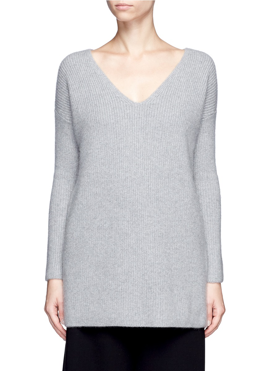 x Du Juan cashmere rib knit long sweater by CRUSH Collection