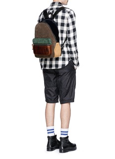 Alexander Wang 'Berkley' polka dot print calfhair panelled suede backpack