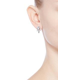 Fallon'Monarch' cubic zirconia petal stud earrings