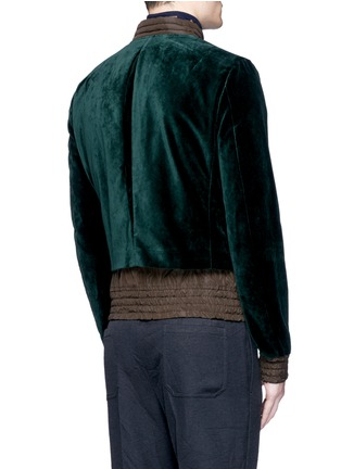 Back View - Click To Enlarge - kolor - Tech fabric underlay velvet bomber jacket