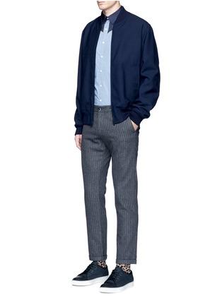 Figure View - Click To Enlarge - kolor - Polka dot Western yoke cotton shirt