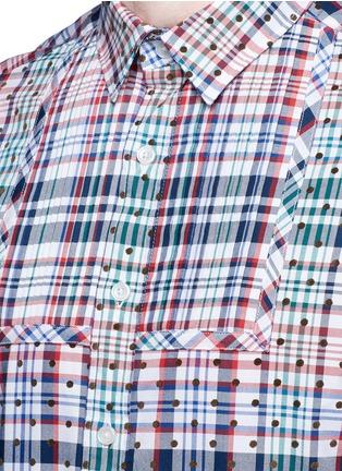 细节 - 点击放大 - KOLOR - 波点格纹纯棉衬衫