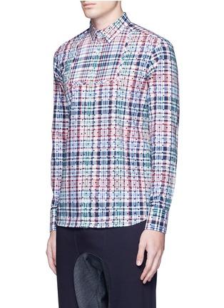 正面 -点击放大 - KOLOR - 波点格纹纯棉衬衫