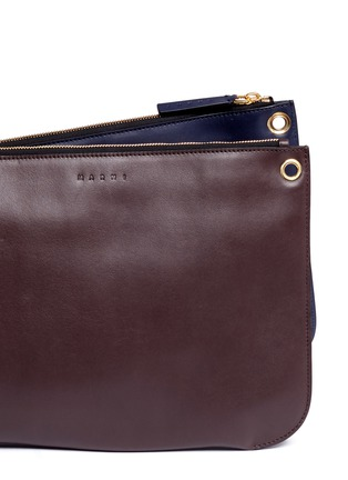 - Marni - 'Bandoleer' detachable pouch leather shoulder bag