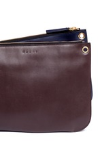 'Bandoleer' detachable pouch leather shoulder bag