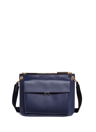Main View - Click To Enlarge - Marni - 'Bandoleer' detachable pouch leather shoulder bag