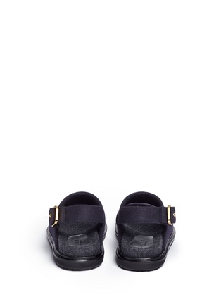 Back View - Click To Enlarge - Marni - 'Fussett' felt slingback sandals