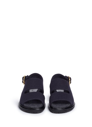 Front View - Click To Enlarge - Marni - 'Fussett' felt slingback sandals