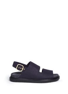 Marni'Fussett' felt slingback sandals