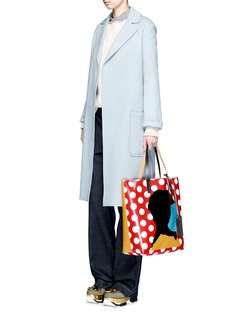 Marni EKTA print shopping tote bag