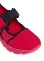 Strap mesh neoprene effect sneakers