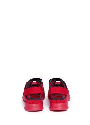 Back View - Click To Enlarge - Marni - Strap mesh neoprene effect sneakers