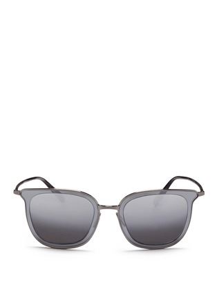 Main View - Click To Enlarge - Oliver Peoples - 'Annetta' acetate temple metal square sunglasses