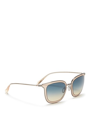 Figure View - Click To Enlarge - Oliver Peoples - 'Anetta' acetate temple metal square sunglasses