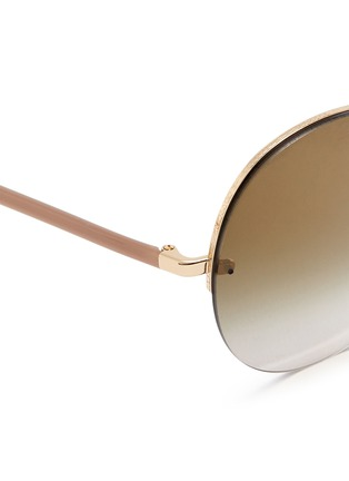 Detail View - Click To Enlarge - Oliver Peoples - 'Jorie' rimless oversize round sunglasses