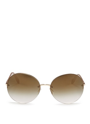 Main View - Click To Enlarge - Oliver Peoples - 'Jorie' rimless oversize round sunglasses