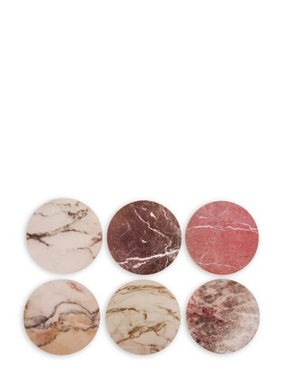 Main View - Click To Enlarge - &K - Marble cork coaster set