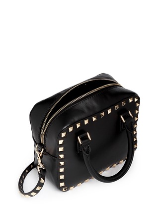 Detail View - Click To Enlarge - Valentino - 'Rockstud' mini leather crossbody bag