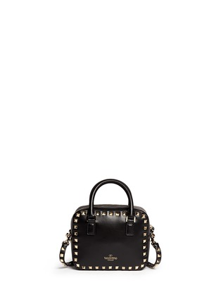 Back View - Click To Enlarge - Valentino - 'Rockstud' mini leather crossbody bag