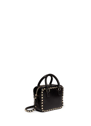 Front View - Click To Enlarge - Valentino - 'Rockstud' mini leather crossbody bag