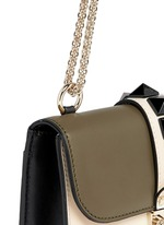 'Rockstud Lock' small leather chain bag