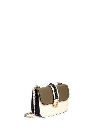 Valentino - 'Rockstud Lock' small leather chain bag