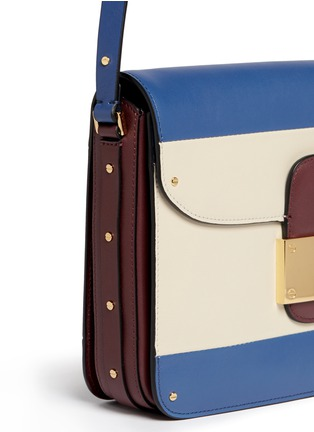 Detail View - Click To Enlarge - Valentino - Colourblock leather shoulder bag