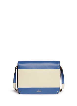 Back View - Click To Enlarge - Valentino - Colourblock leather shoulder bag