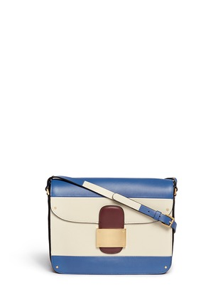 Main View - Click To Enlarge - Valentino - Colourblock leather shoulder bag