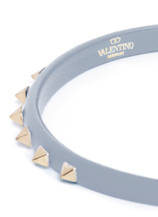 Detail View - Click To Enlarge - Valentino - 'Rockstud' leather headband