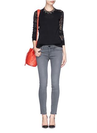 Figure View - Click To Enlarge - Frame Denim - 'Le Skinny de Jeane' Satine jeans