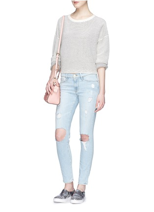 Figure View - Click To Enlarge - Frame Denim - 'Le Skinny de Jeanne' ripped jeans