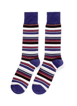 PAUL SMITH-彩色条纹袜子