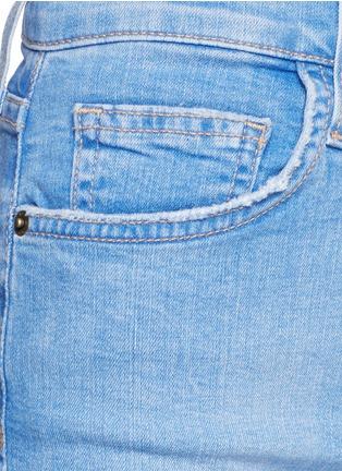 Detail View - Click To Enlarge - Current/Elliott - 'The Highwaist' cut off denim shorts