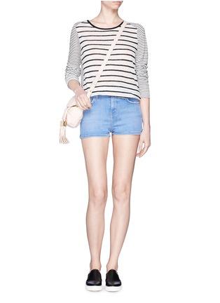Figure View - Click To Enlarge - Current/Elliott - 'The Highwaist' cut off denim shorts