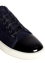 Suede and patent leather sneakers