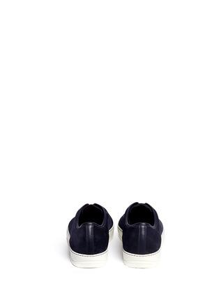 背面 - 点击放大 - LANVIN - 漆皮鞋头麂皮球鞋