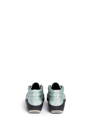 Back View - Click To Enlarge - Lanvin - Leather trim satin twill sneakers