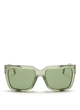 Main View - Click To Enlarge - Gucci - Metal blinker acetate sunglasses