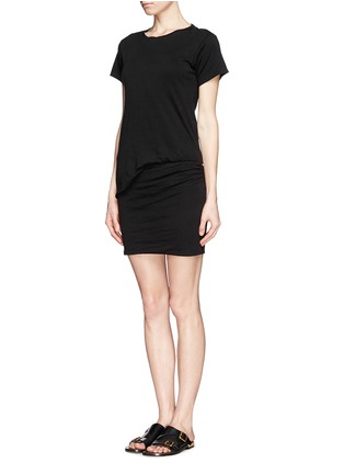 Figure View - Click To Enlarge - Theory - 'Toasta' layered draped dress