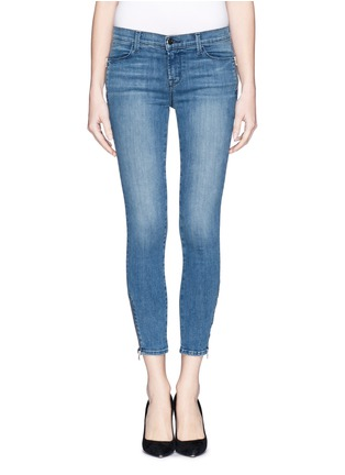 Main View - Click To Enlarge - J Brand - 'Photo Ready Tali' zip skinny jeans